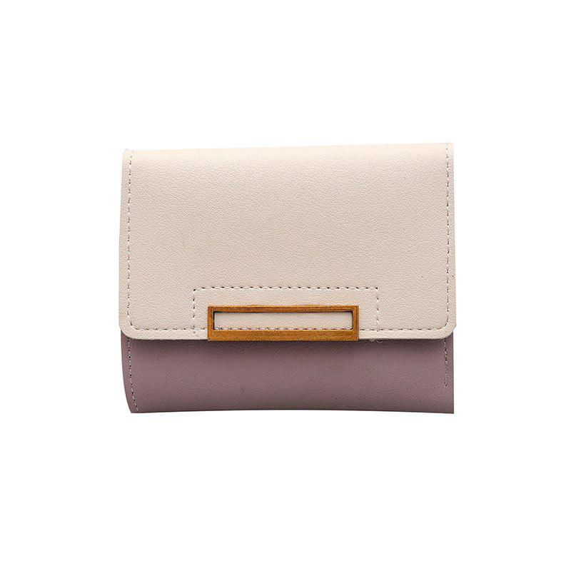 New Three Fold Wallet Female Short Paragraph - PINK