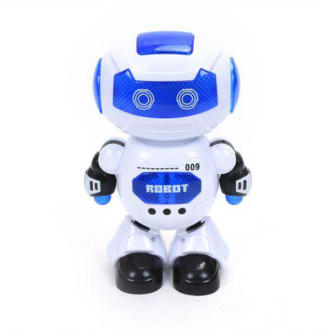 Electronic Walking Dancing Robot Toy with Music Lighting for Kids Toddlers - WHITE