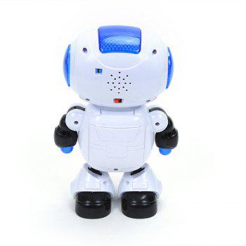 Electronic Walking Dancing Robot Toy with Music Lightening for Kids Toddlers - WHITE