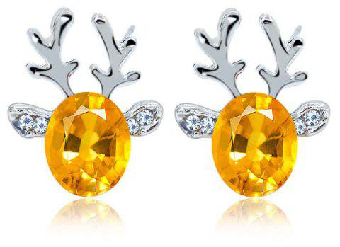 Luxurious and High-end Crystal Jewel Antler Earrings - MAIZE