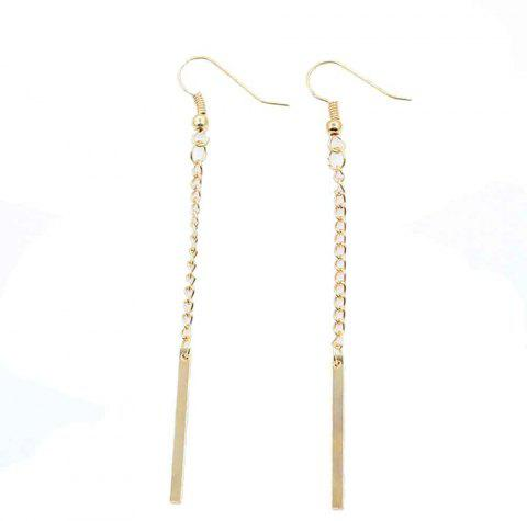 Fashion Long Style Simple with Geometric Metal Chain Earrings - GOLDEN