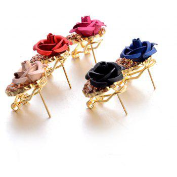 Fashion Korean Cute Five-Pointed Star Sweet Wild Temperament Earrings Rose Simple Stylish Earrings - CHAMPAGNE