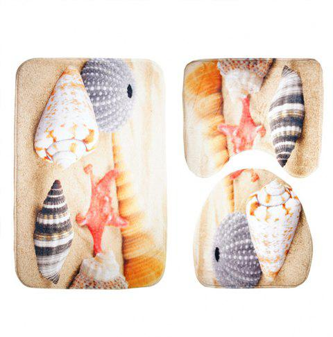 Three Pieces of Toilet Seat Cushion Suit for Toilet - JACINTH 44*75CM