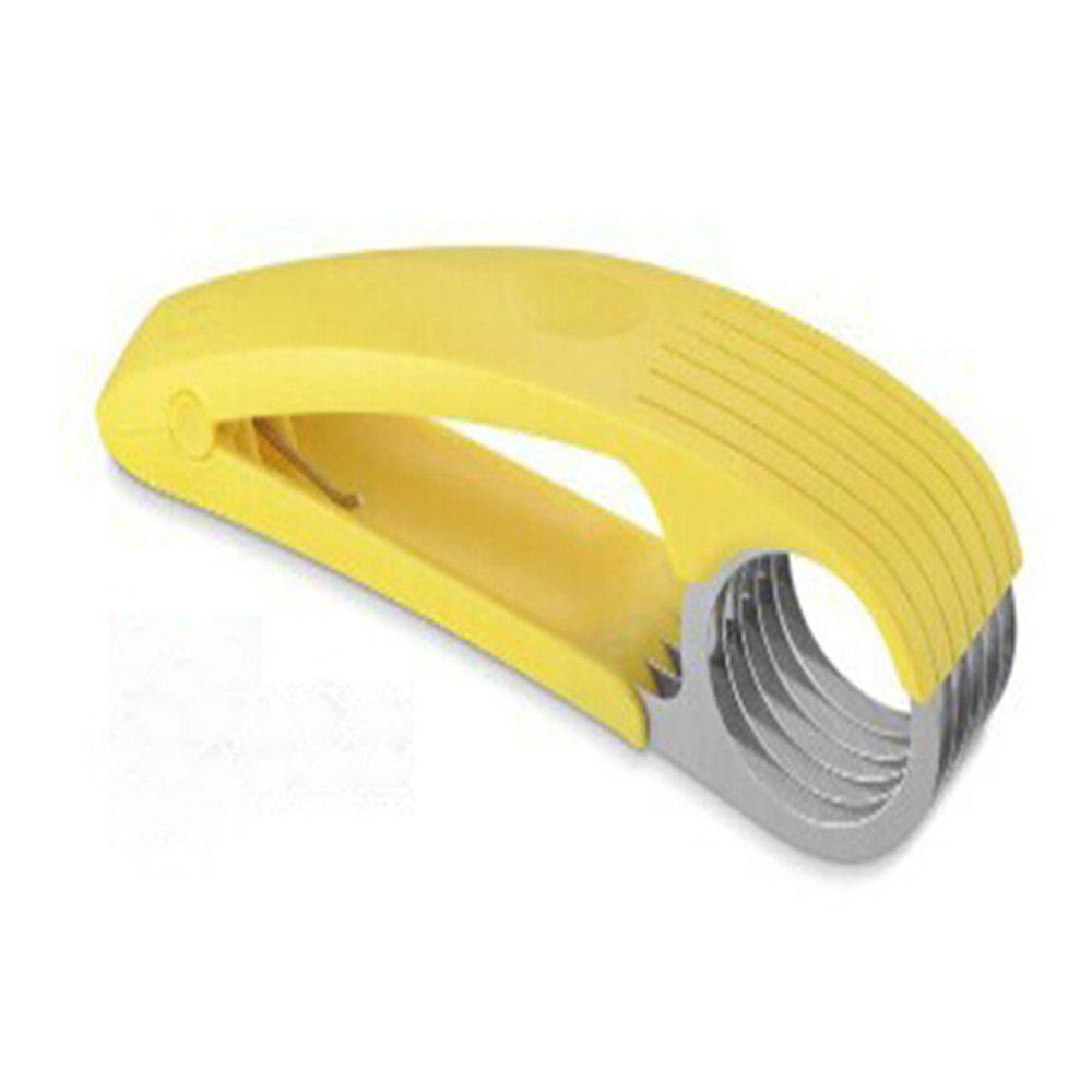 Stainless Steel Banana Slicer - YELLOW
