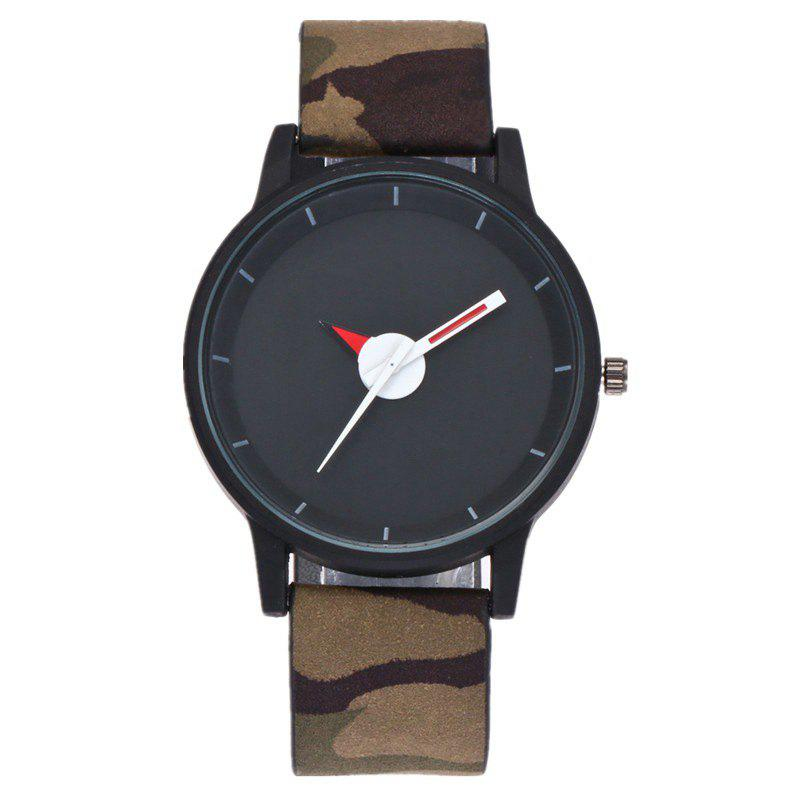 Camouflage Strap Sports Student Watch - BLACK