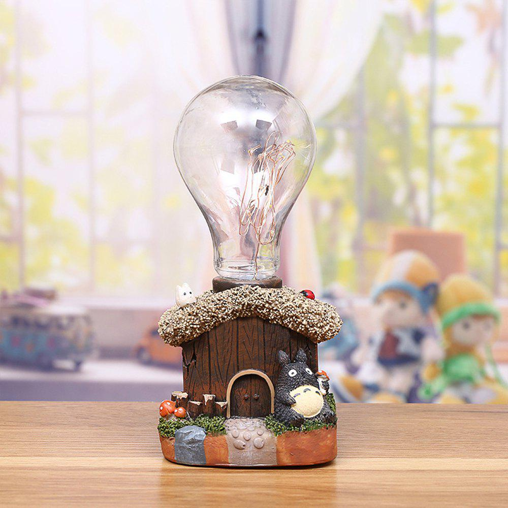 Creative Chinchilla Resin Night Light Ornaments - BROWN