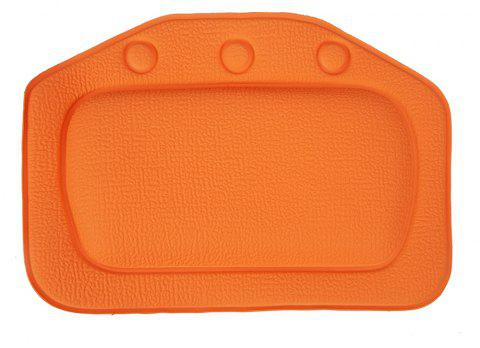 Solid Color Sponge Bath Pillow - ORANGE