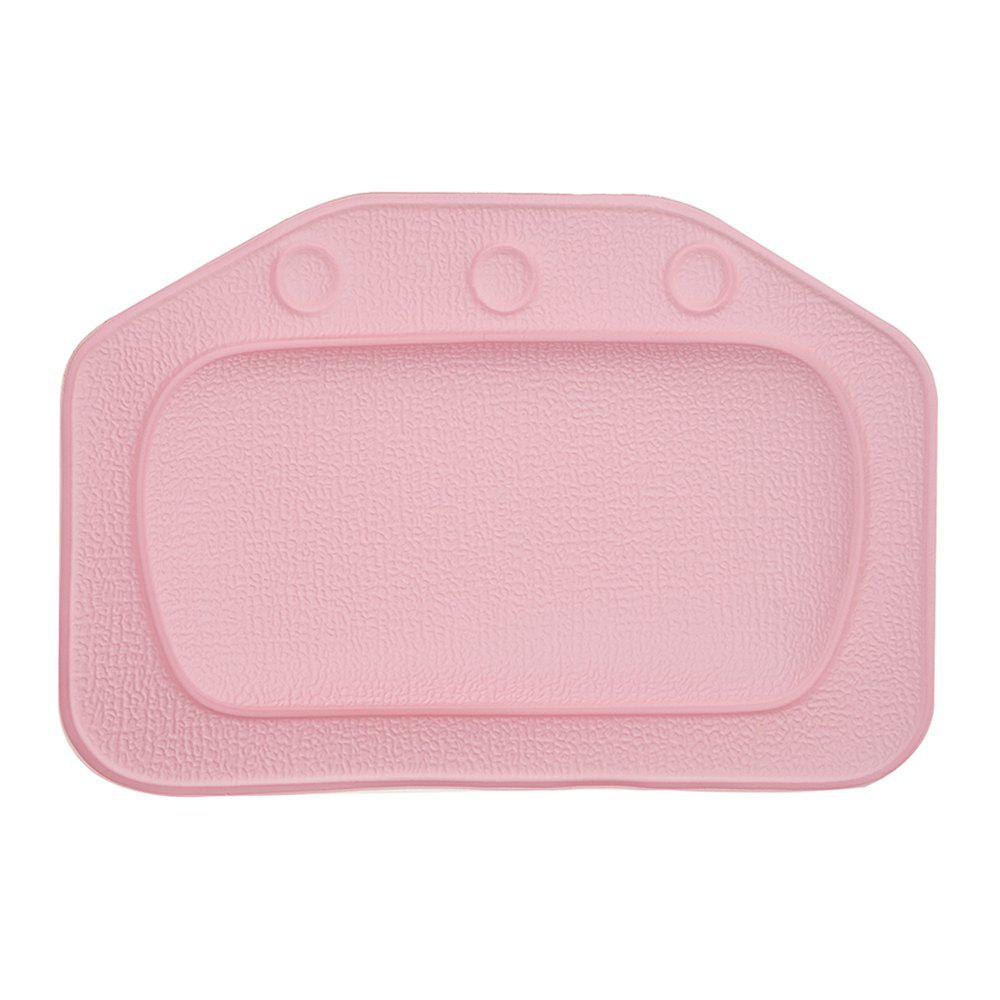 Solid Color Sponge Bath Pillow - PINK