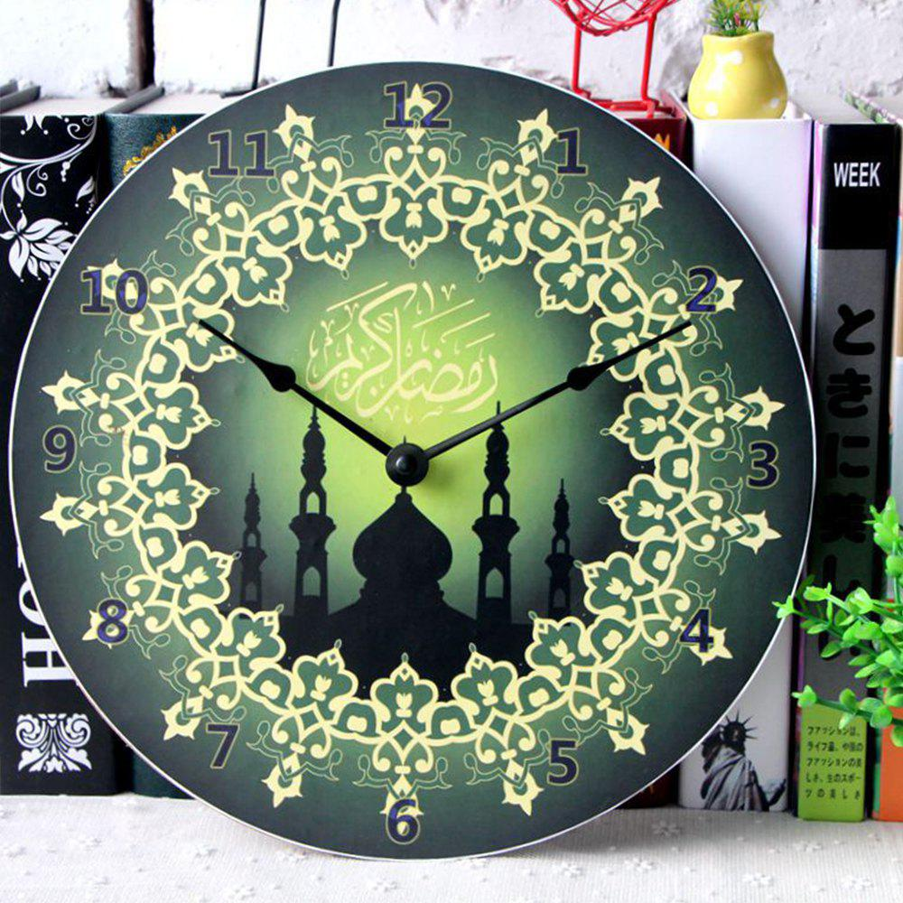European  Home Decoration Wall Clock - GREEN