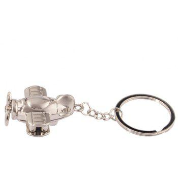 Best Selling High quality Nostalgic Propeller Aircraft Couple Key Chain Pendant 1PCS - SILVER