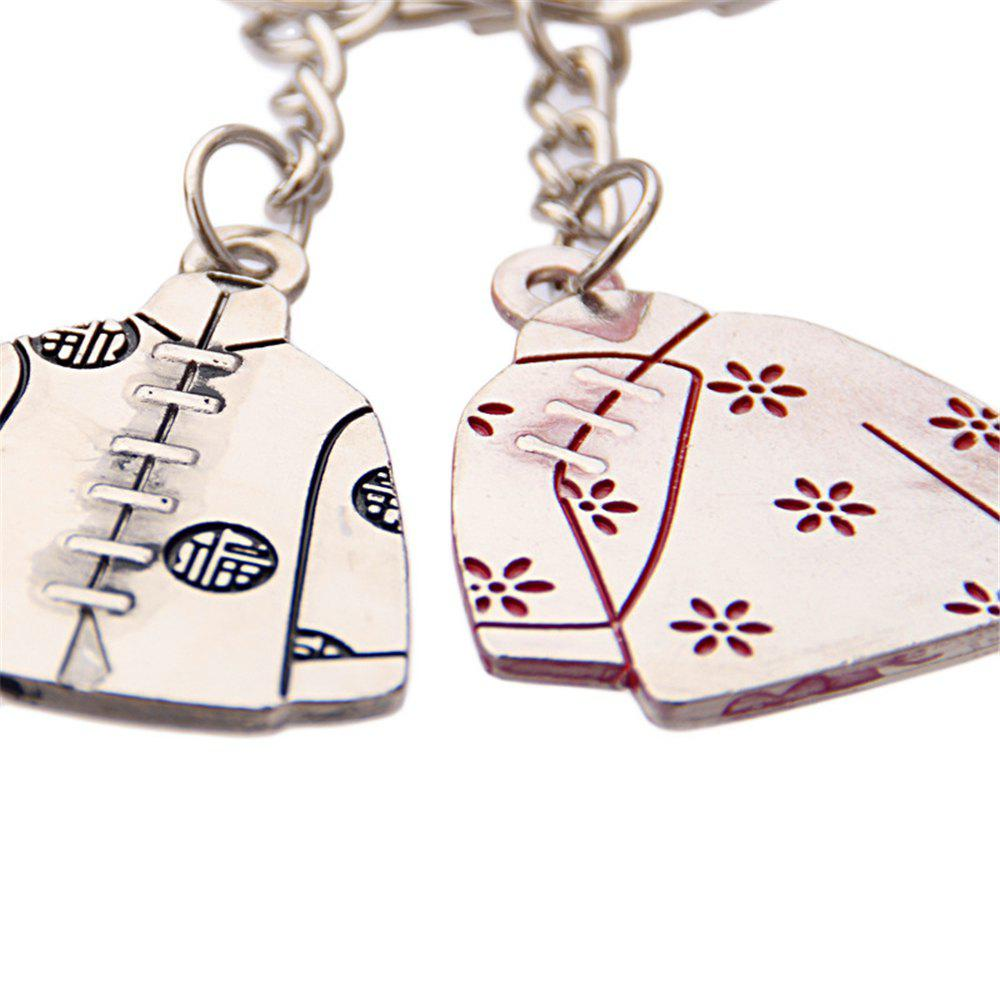 Tang couple Personalized Metal Keychain Wedding Valentine'S Day Small Gift 2PCS - SILVER