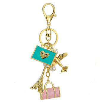 Carrying Bag Decoration Zn Alloy Key Chain - COLORMIX