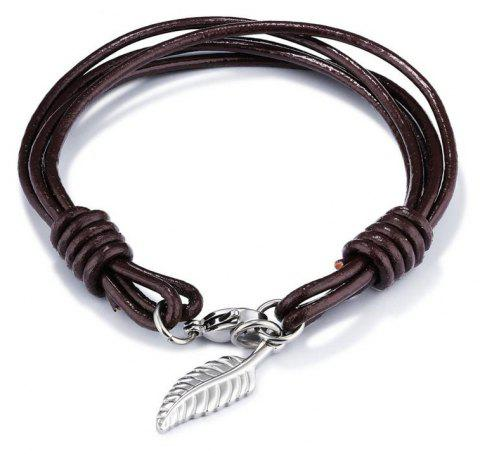 Fashion Men'S Bracelet Multi-Layer Creative Hand Chain - BROWN