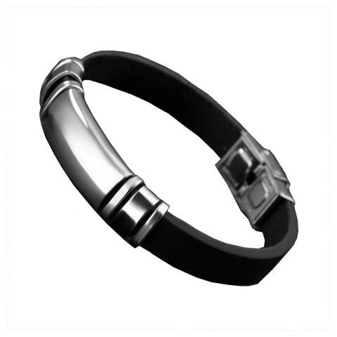 Fashion Men'S Bracelet Silica Gel Movement Bangle - SILVER