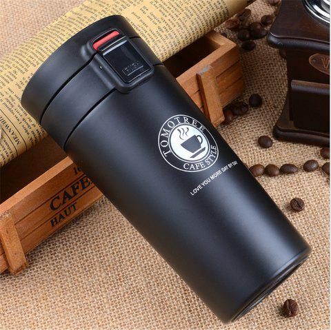 Premium Travel Coffee Mug Stainless Steel Thermos Tumbler Cups Vacuum Flask Thermo Water Bottle Tea Mug Thermocup - BLACK
