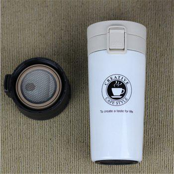 Premium Travel Coffee Mug Stainless Steel Thermos Tumbler Cups Vacuum Flask Thermo Water Bottle Tea Mug Thermocup - WHITE