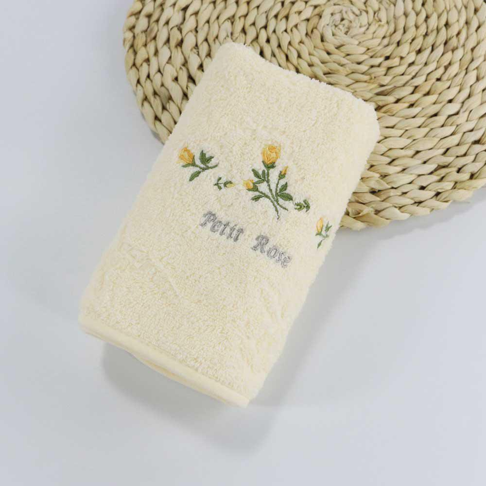 Muchun Soft Hair Towel Cotton Fabric Absorbent Washrag Washcloth Couple Towels - BEIGE