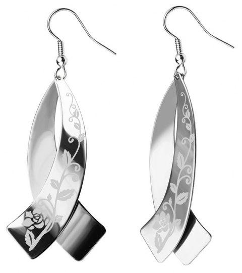 Never Fade Stainless Steel Drop Earrings Jewelry Women Bridal Gift  E10145 - STAINLESS STEEL