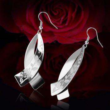 Never Fade Stainless Steel Drop Earrings Jewelry Women Bridal Gift Wholesale E10145 - STAINLESS STEEL