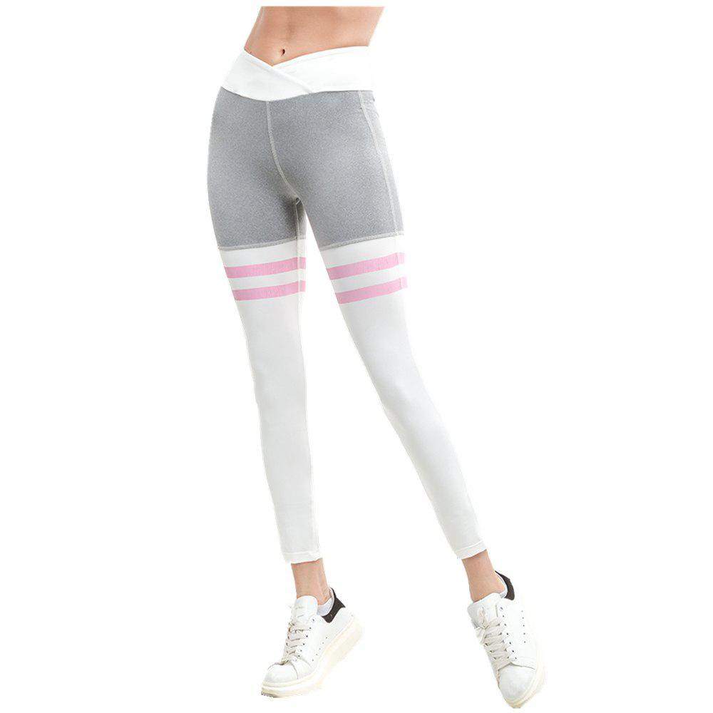 Fitness Yoga Pants Sexy Ladies Leggings Running Pants Gym Pants - GRAY S