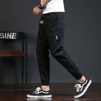 Spring and Autumn New Trend Fashionable Men's Trousers - BLACK 2XL