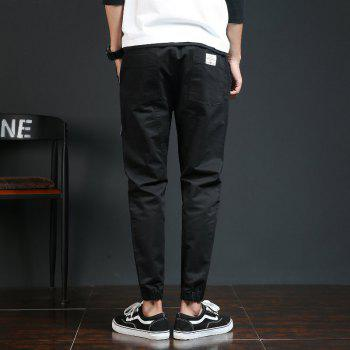 Spring and Autumn New Trend Fashionable Men's Trousers - BLACK L