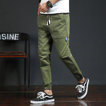 Spring and Autumn New Trend Fashionable Men's Trousers - CADETBLUE M