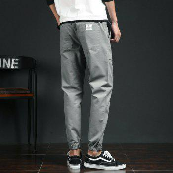 Spring and Autumn New Trend Fashionable Men's Trousers - GRAY M