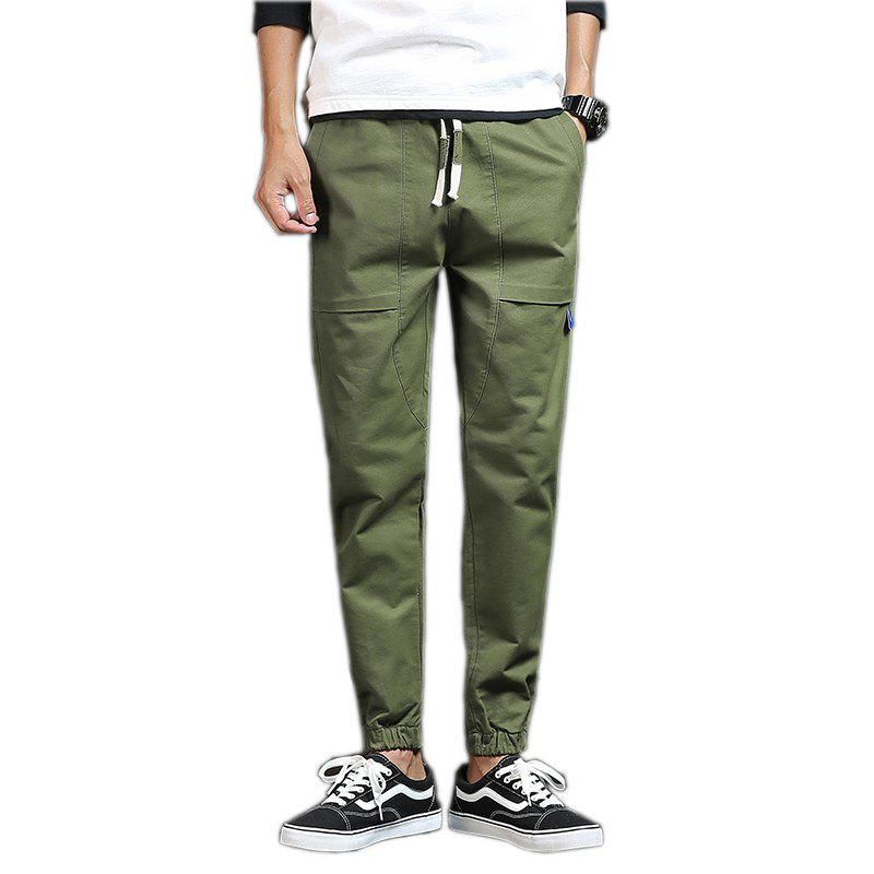 Spring and Autumn New Trend Fashionable Men's Trousers - CADETBLUE XL