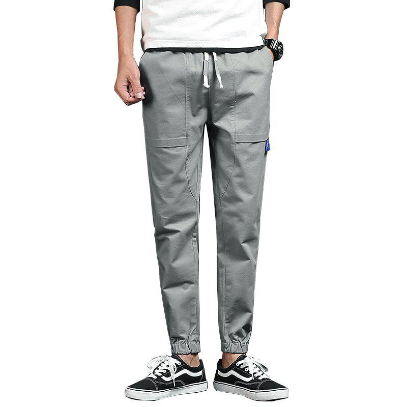 Spring and Autumn New Trend Fashionable Men's Trousers - GRAY L
