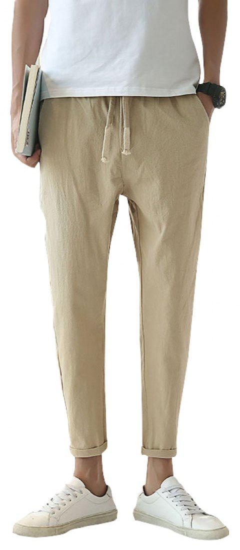 Fashionable Casual Dry Men's Trousers - KHAKI 3XL