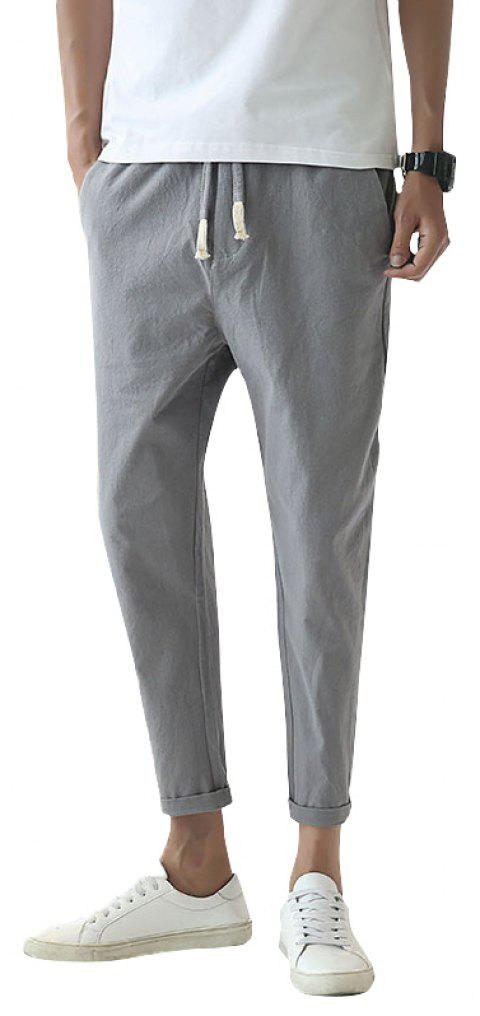 Fashionable Casual Dry Men's Trousers - LIGHT GRAY 2XL