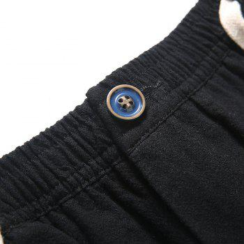 Fashionable Casual Dry Men's Trousers - BLACK 3XL