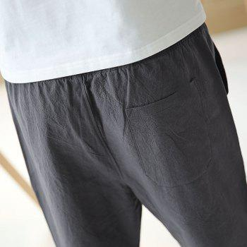 Fashionable Casual Dry Men's Trousers - DEEP GRAY XL