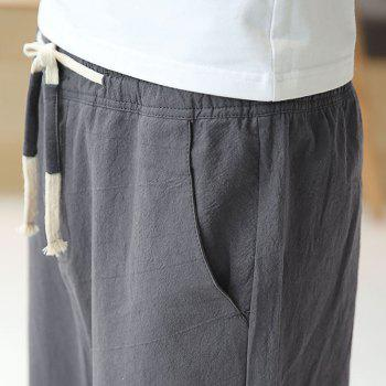 Fashionable Casual Dry Men's Trousers - DEEP GRAY M