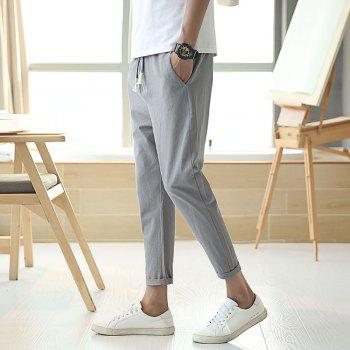 Fashionable Casual Dry Men's Trousers - LIGHT GRAY 3XL
