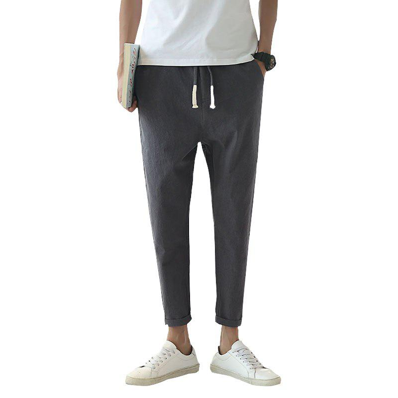 Fashionable Casual Dry Men's Trousers - DEEP GRAY 3XL