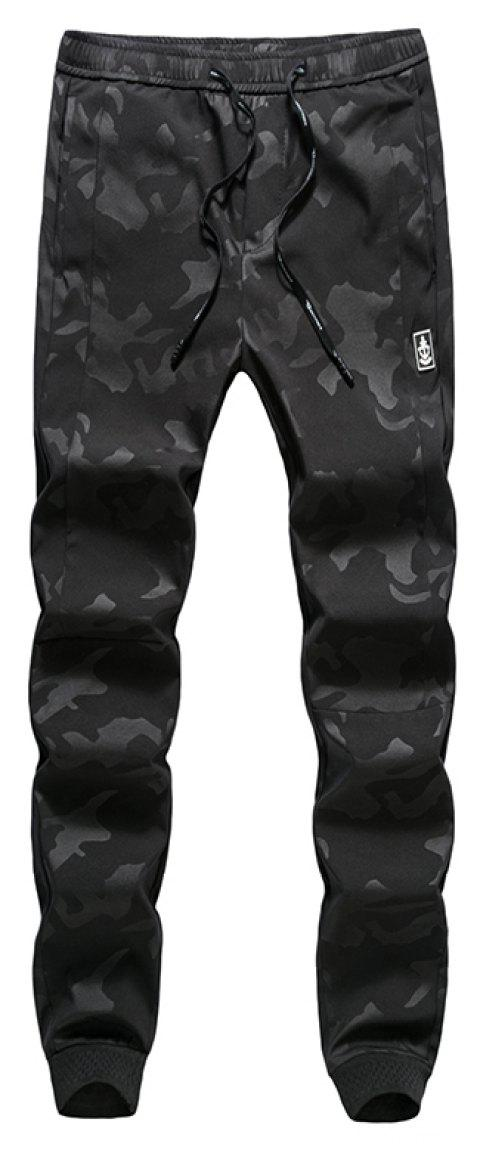 New Fashion Men's Camouflage Trousers - BLACK 3XL