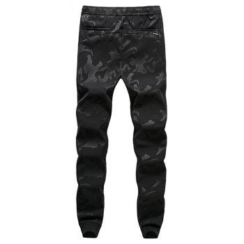 New Fashion Men's Camouflage Trousers - BLACK 4XL
