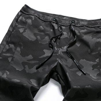New Fashion Men's Camouflage Trousers - BLACK 2XL
