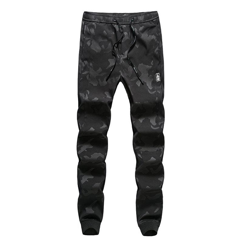 New Fashion Men's Camouflage Trousers - BLACK XL