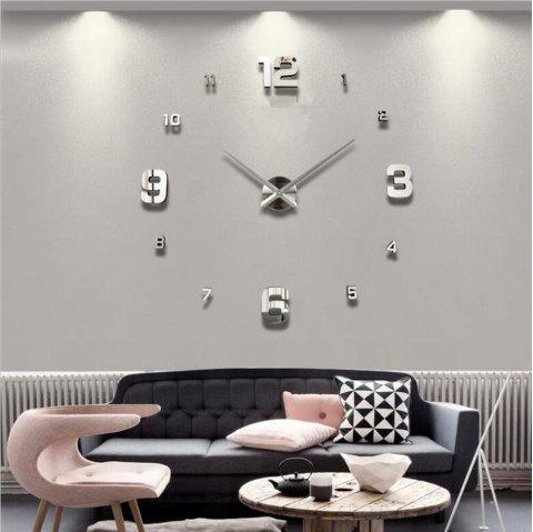 DIY Creative Living Room Decoration Wall Clock - SILVER 120