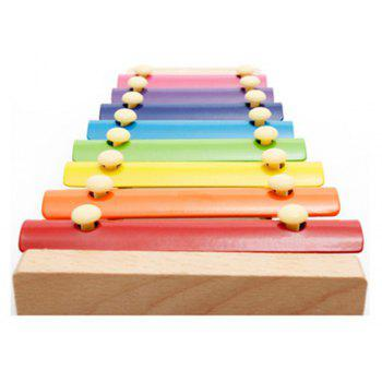 Wood Eight Knocked Jean Baby Hand Xylophone Children Educational Toys - COLORMIX
