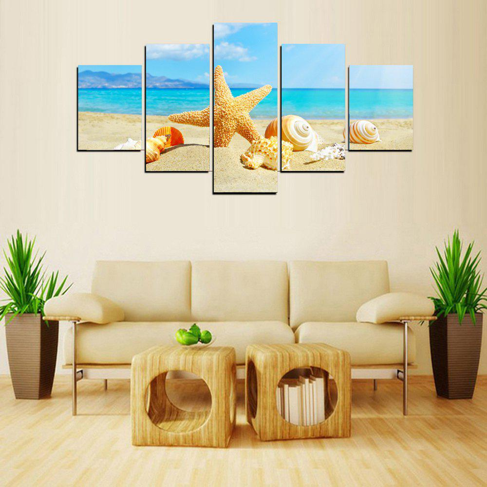 2018 MailingArt FIV574 5 Panels Seascape Wall Art Painting Home ...