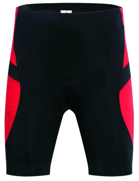Realtoo Men's Cycling Shorts Padded Bicycle Riding Pants - FIRE ENGINE RED 3XL