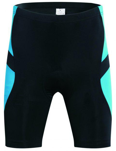 Realtoo Men's Cycling Shorts Padded Bicycle Riding Pants - GLACIAL BLUE ICE M