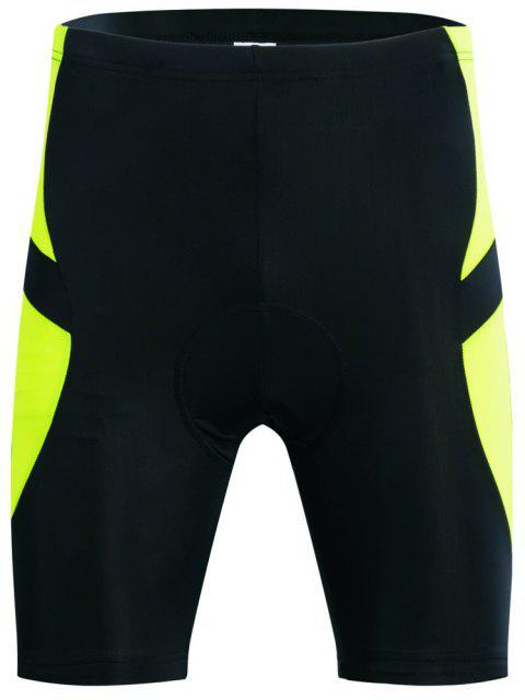 Realtoo Men's Cycling Shorts Padded Bicycle Riding Pants - CHARTREUSE S