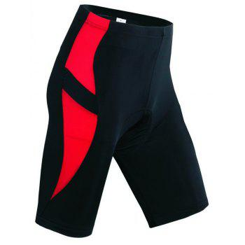 Realtoo Men's Cycling Shorts Padded Bicycle Riding Pants - RED 3XL