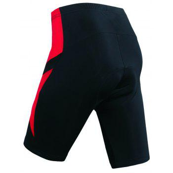 Realtoo Men's Cycling Shorts Padded Bicycle Riding Pants - FIRE ENGINE RED 2XL