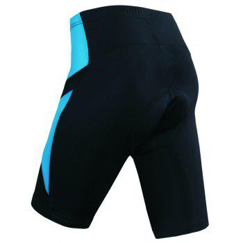 Realtoo Men's Cycling Shorts Padded Bicycle Riding Pants - GLACIAL BLUE ICE 2XL